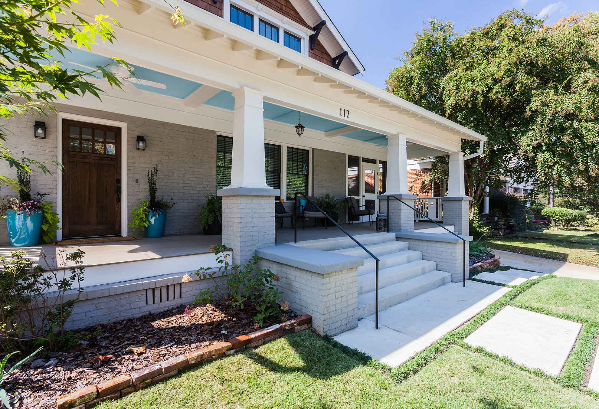 Decatur home renovation porch