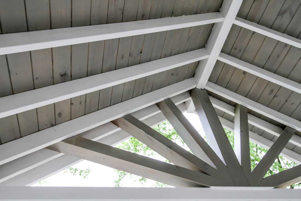 beamed porch ceiling